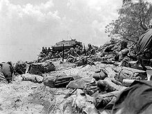 Red Beach 2 during the landings on Saipan, 15 June 1944. More than 300 LVTs landed 8,000 Marines in about two hours.