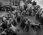 Soldiers on their way to France, June 6, 1944