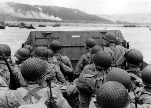 Approaching Omaha Beach, June 1944