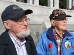 Wilmer Myers and Dwight Rist at the National World War II Memorial