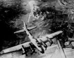 B-17 bomber over Germany