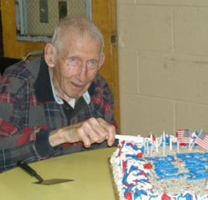 E. Duncan Cameron at his 90th birthday party on April 8