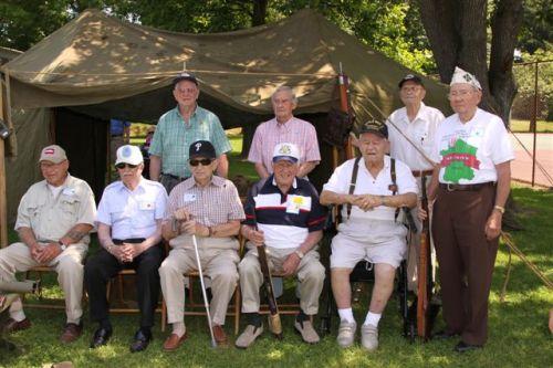 D-Day veterans in Nazareth Boro Park, June 6, 2011.