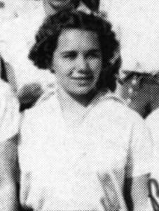 Naomi Dees Schleicher in 1938 Mariposa High School yearbook