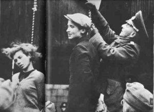 Masha Bruskina and Volodia Shcherbatsevich are hanged in Minsk in 1941.