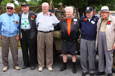 D-Day vets at Nazareth Boro Park in 2013