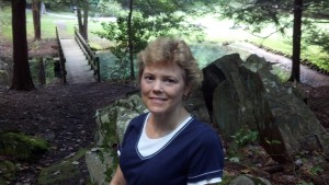 Mary at a clearning near Jumonville Glen