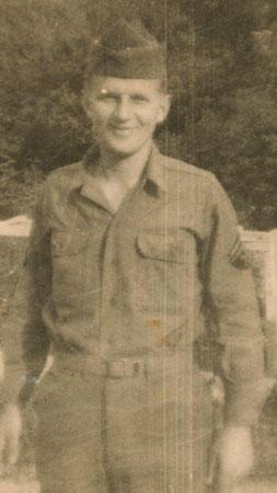 Bob Serafin as a soldier