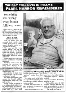 Jerry Winslow in The Daily Record of Coatesville, Pa., 1991