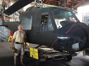 Mary took this photo of me Aug. 4 in front of a UH-1 Huey helicopter at the Naval Air Station Wildwood Aviation Museum in Rio Grande, N.J.
