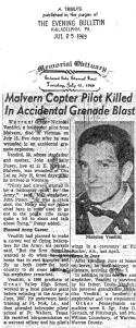 Evening Bulletin story on Nicky Venditti's death