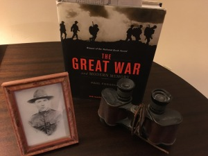 George Cunningham's binoculars, Paul Fussell's book and Army portrait of George