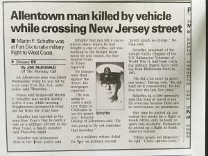 Story about Martin F. Schaffer's death