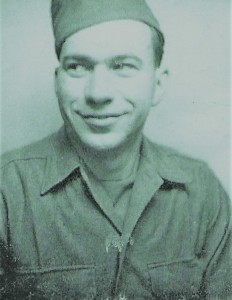 Dan Curatola in France, 1945.
