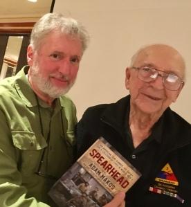 World War II hero Clarence Smoyer with David Venditta